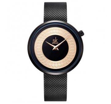 Женские Часы наручные SK, черные   4008