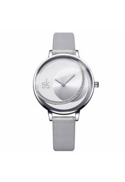 Женские часы SK, серебристые
