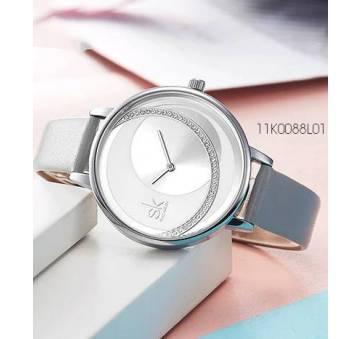 Женские Часы наручные SK, серебристые   4010