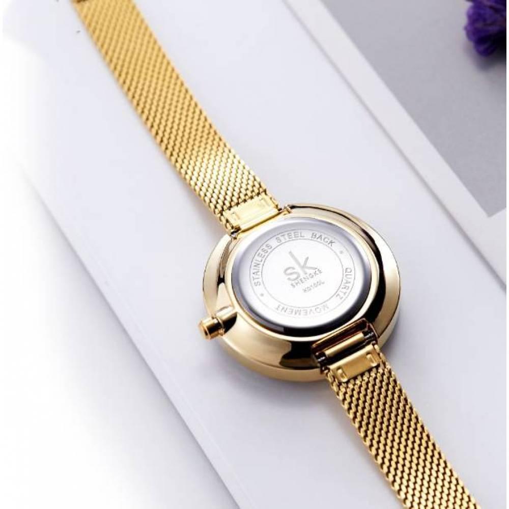 Женские Часы наручные SK, золотистые  4011