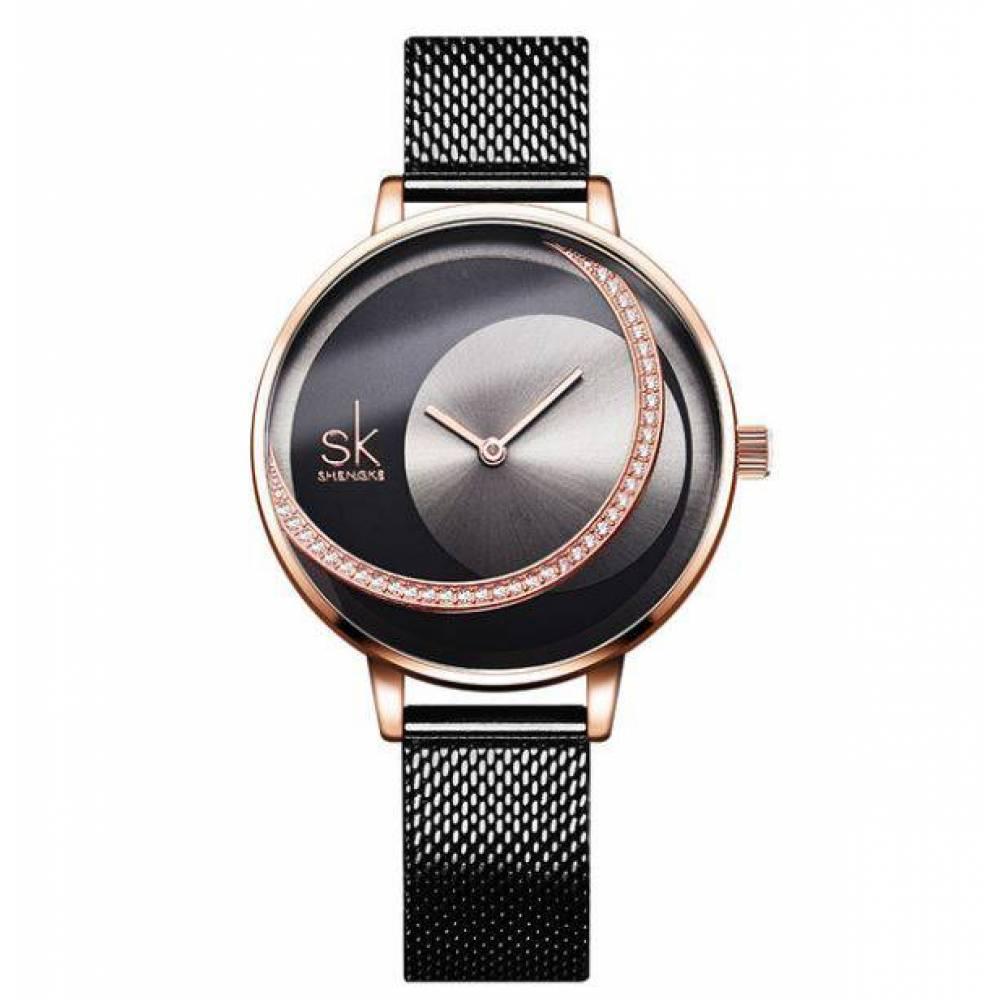 Женские Часы наручные SK, черные  4115