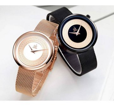 Женские Часы наручные SK, золотистые  4116