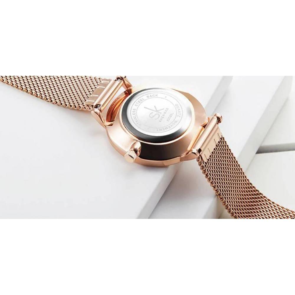 Женские Часы наручные SK, золотистые   4117