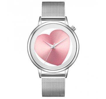 Женские Часы наручные Geekthink, розовое сердце  4127