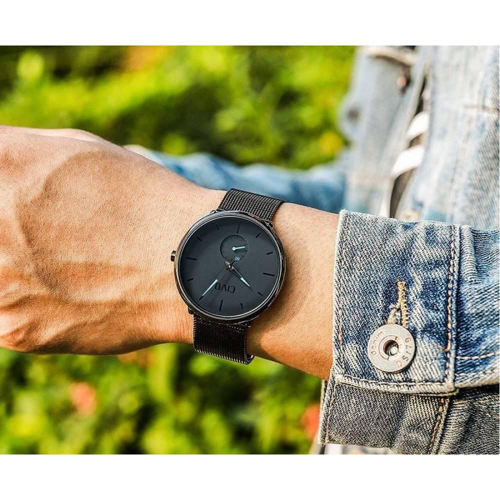 Мужские Часы наручные CIVO, черные  4154