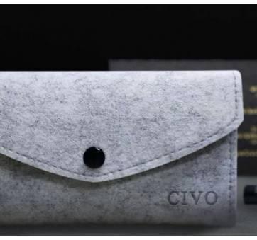 Мужские Часы наручные CIVO, черные  4155
