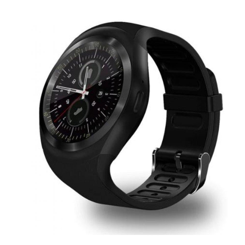 Смарт-Cмарт часы Y1, черные 4327