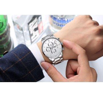 Мужские Часы наручные NIBOSI, белые  4331