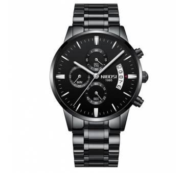 Мужские Часы наручные NIBOSI, черные  4334