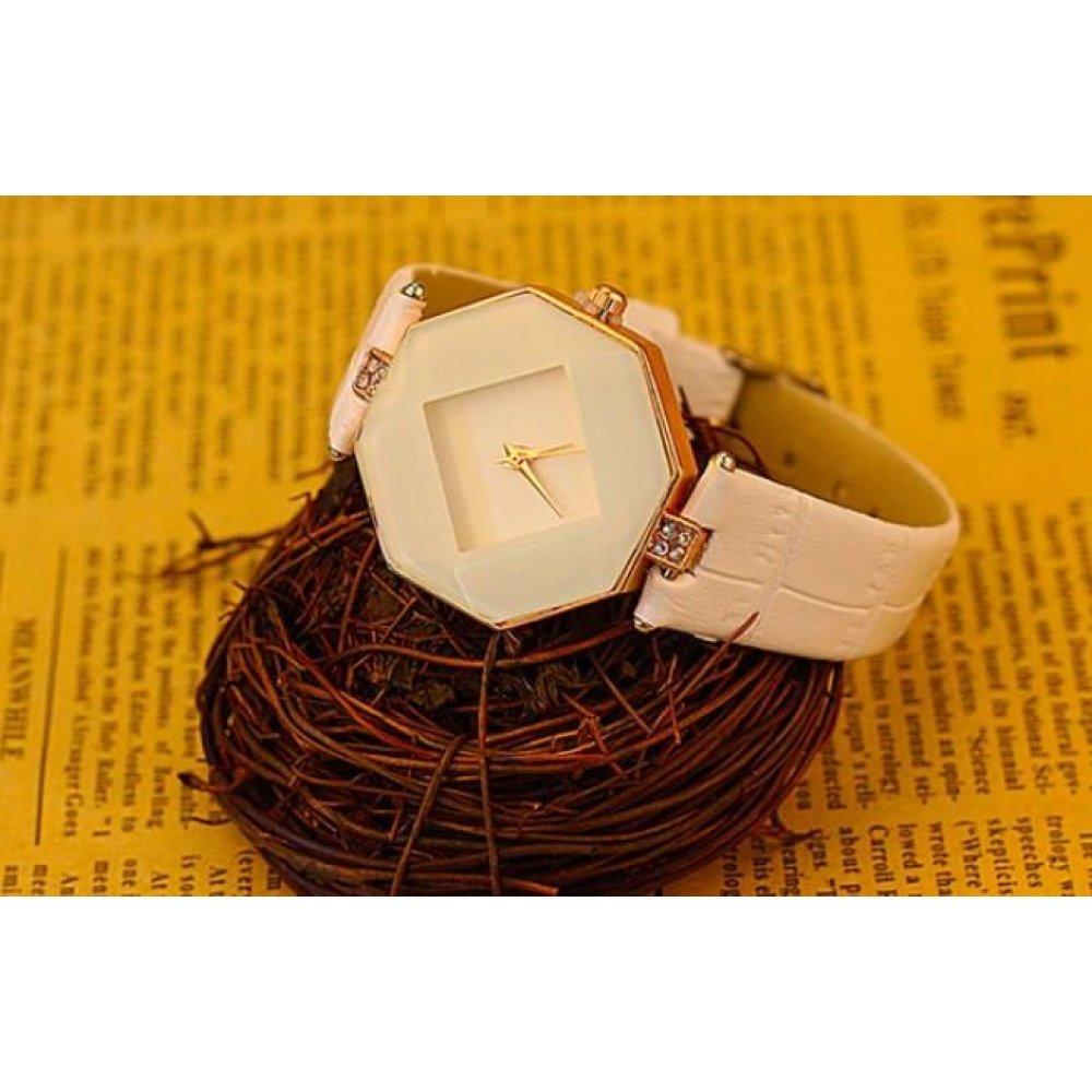 Женские Часы наручные Relogio, белые  4382