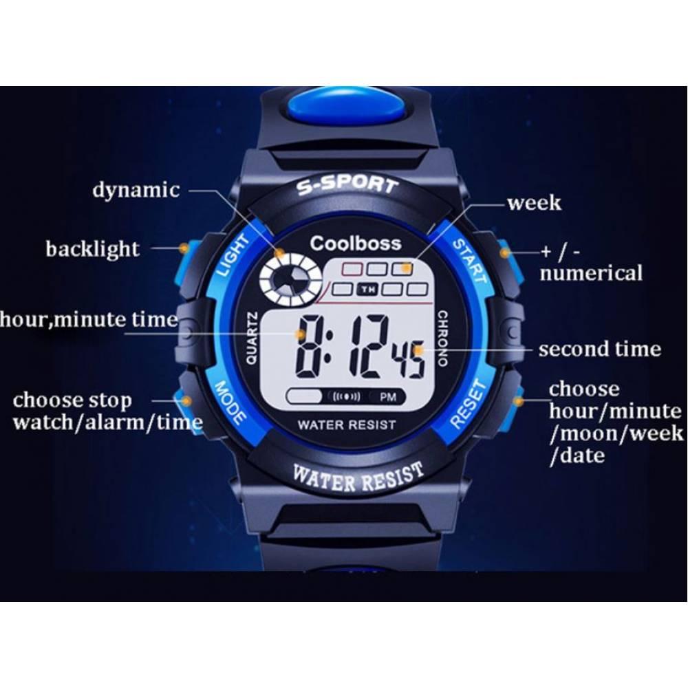 Детские Часы наручные coolboss, черные  4385