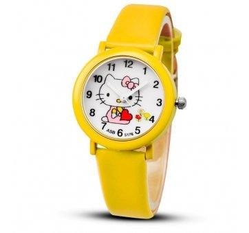 Детские Часы наручные Hello Kitty, желтые 4388