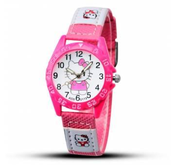 Детские Часы наручные Hello Kitty, розовые  4389
