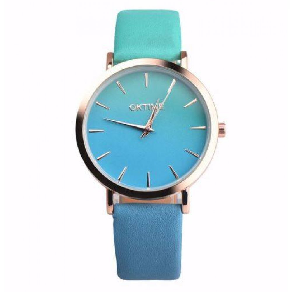 Женские Часы наручные Duobla, голубые  4392
