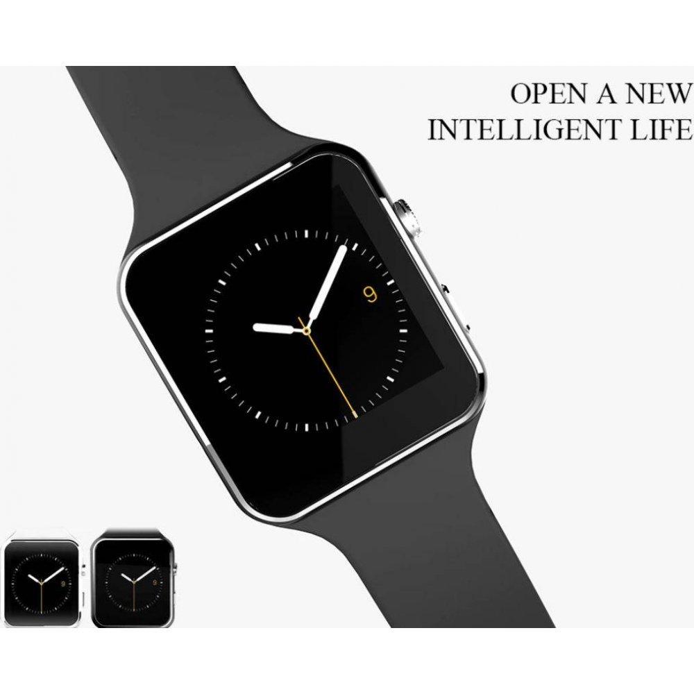Смарт-Cмарт часы X6, черные  4394