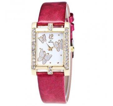 Женские Часы наручные Xiniu с бабочками, красные  4414
