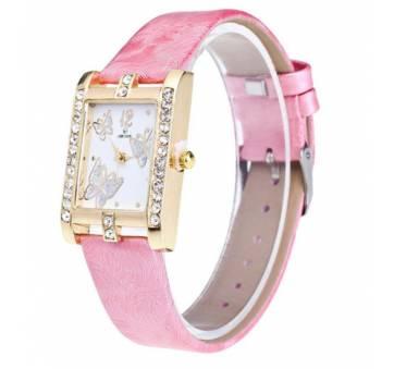 Женские Часы наручные Xiniu с бабочками, розовые  4415
