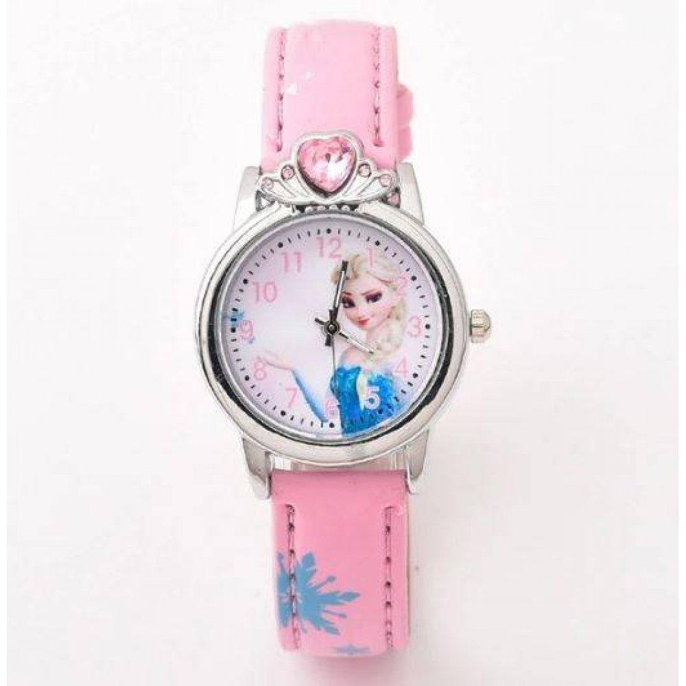Детские Часы наручные Ледяное сердце, розовые   4491