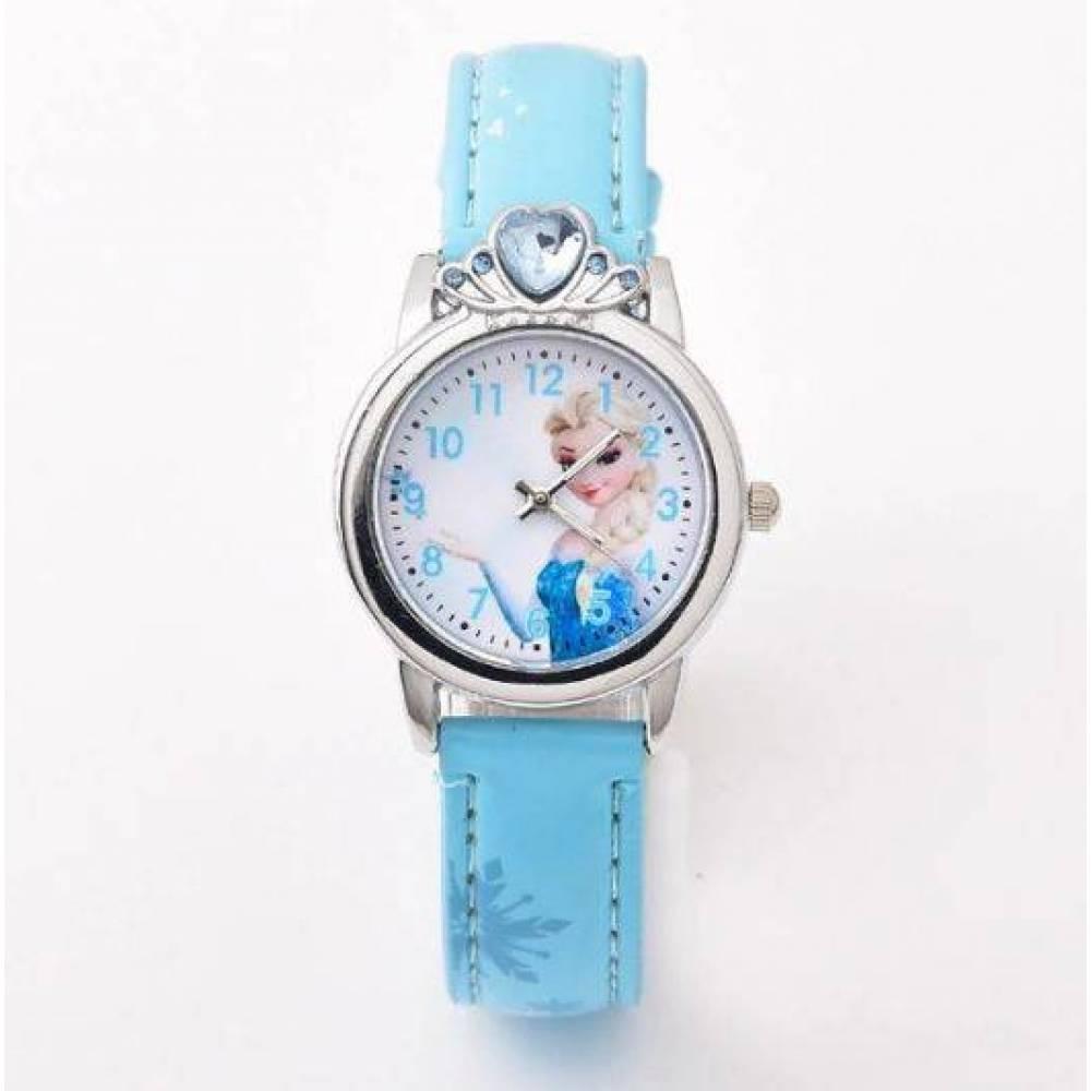 Детские Часы наручные Ледяное сердце, голубые   4493