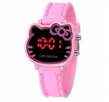 Детские Часы наручные Hello Kitty, розовые  4497
