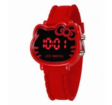 Детские Часы наручные Hello Kitty' красные 4498