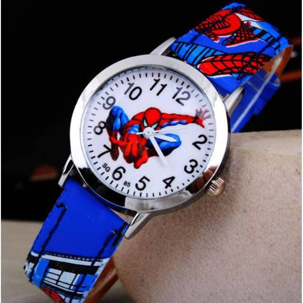 """Детские Часы наручные """"Человек Паук"""" синие 4501"""