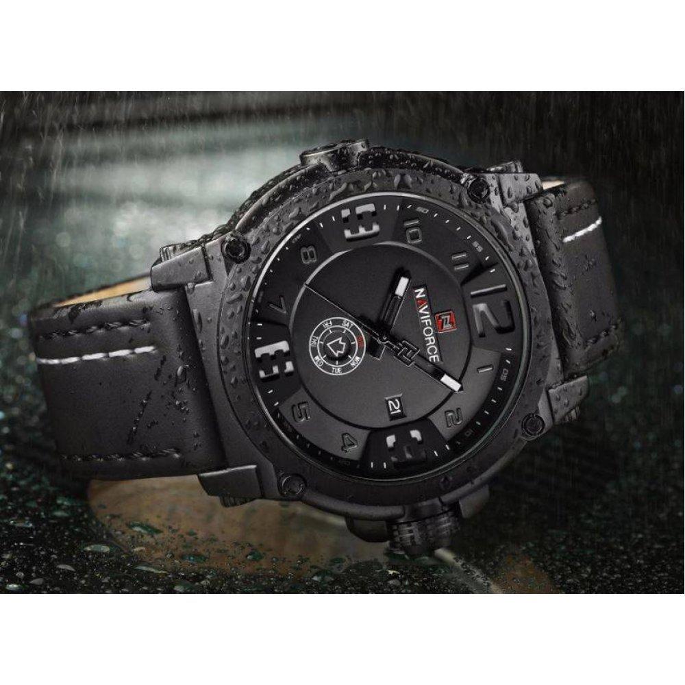 Мужские Часы наручные Naviforce military, черные  4502