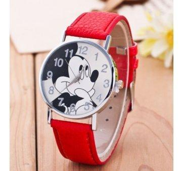 Детские Часы наручные Disney Микки Маус, красные  4513
