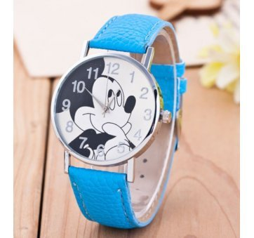 Детские Часы наручные Disney Микки Маус, голубые  4514