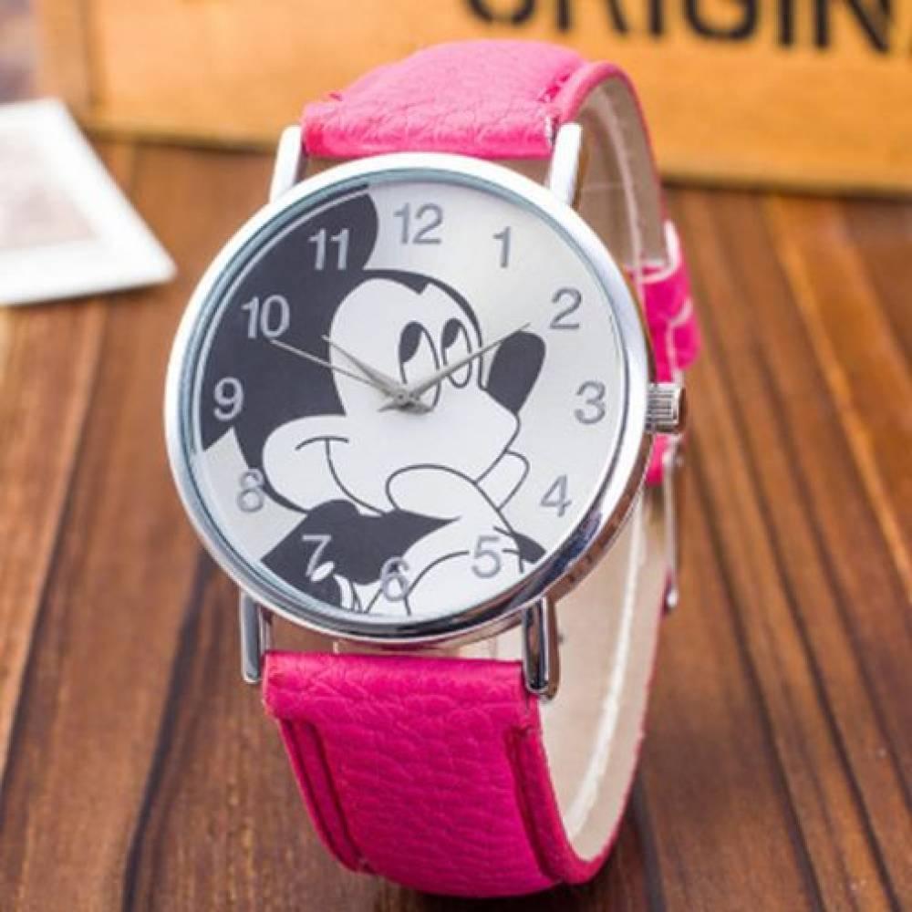 Детские Часы наручные Disney Микки Маус, розовые  4516