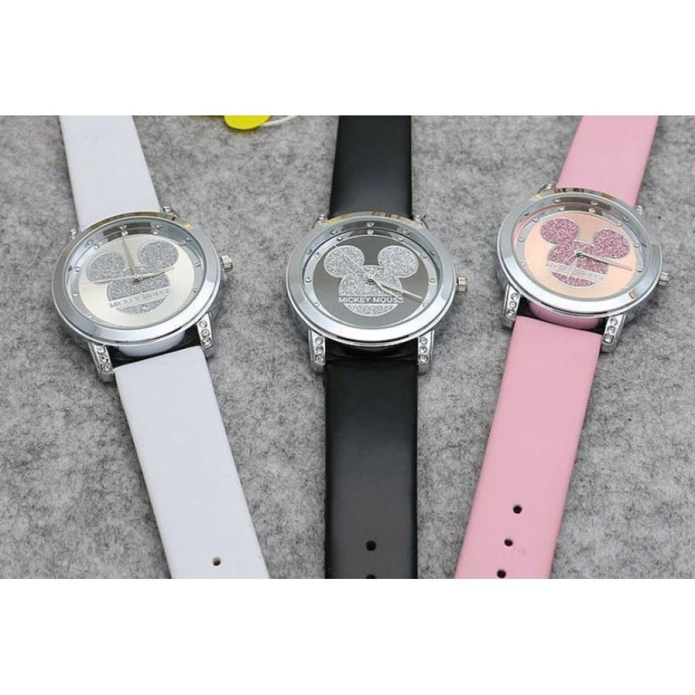 Детские Часы наручные Disney Микки Маус, розовые   4517