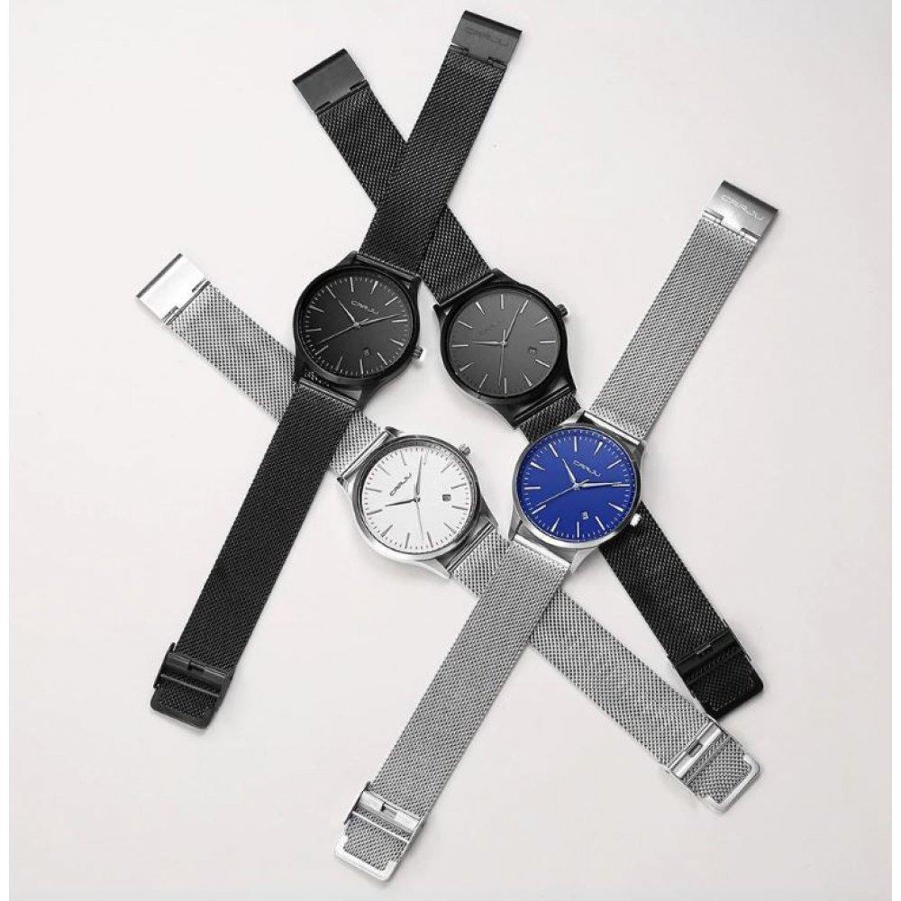 Мужские Часы наручные CRRJU, черные  4549