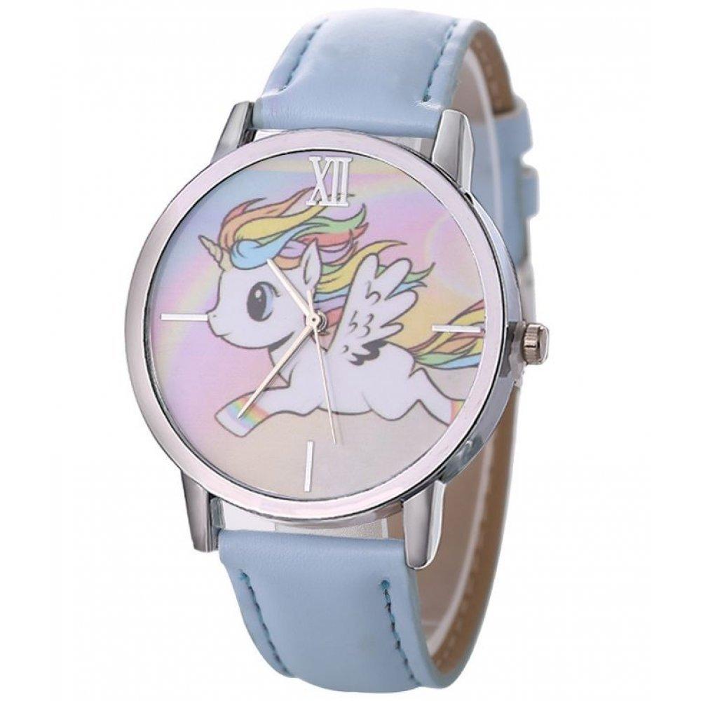 Детские Часы наручные Vinkkatory единорог, голубые  4555