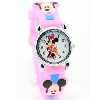 Детские Часы наручные Disney Минни Маус, розовые  4557