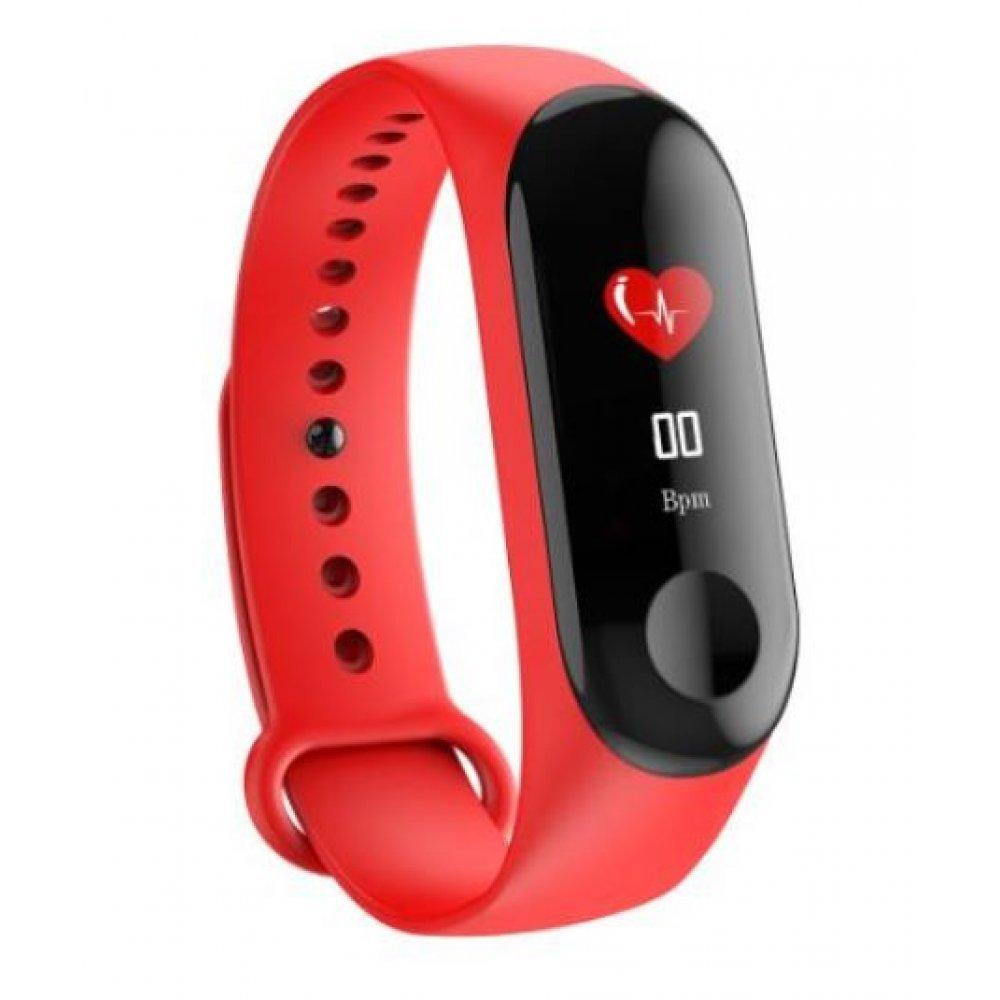Умные часы Фитнес браслет Vwar, красный 4558