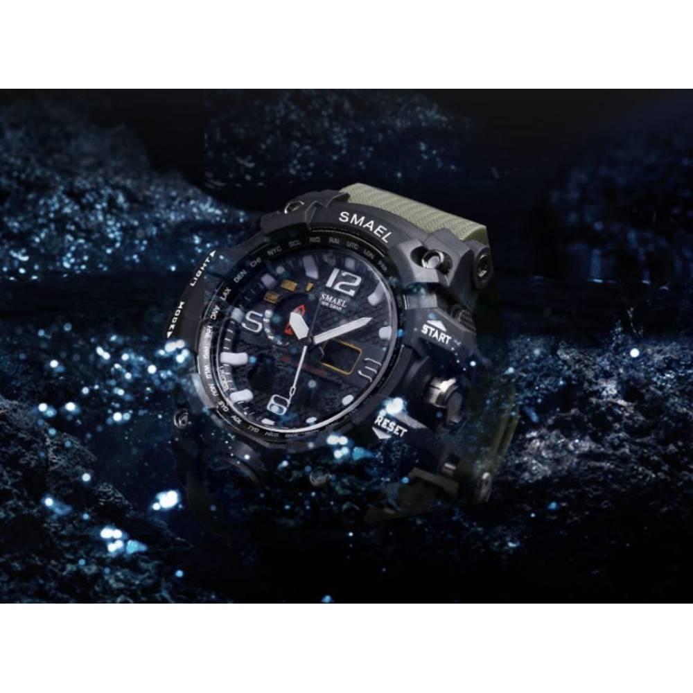 Мужские Часы наручные SMAEL Militray, черные  4562
