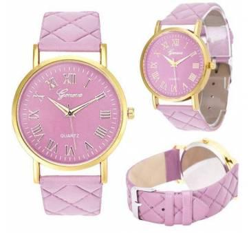 Женские Часы наручные Genvivia, розовые  4567