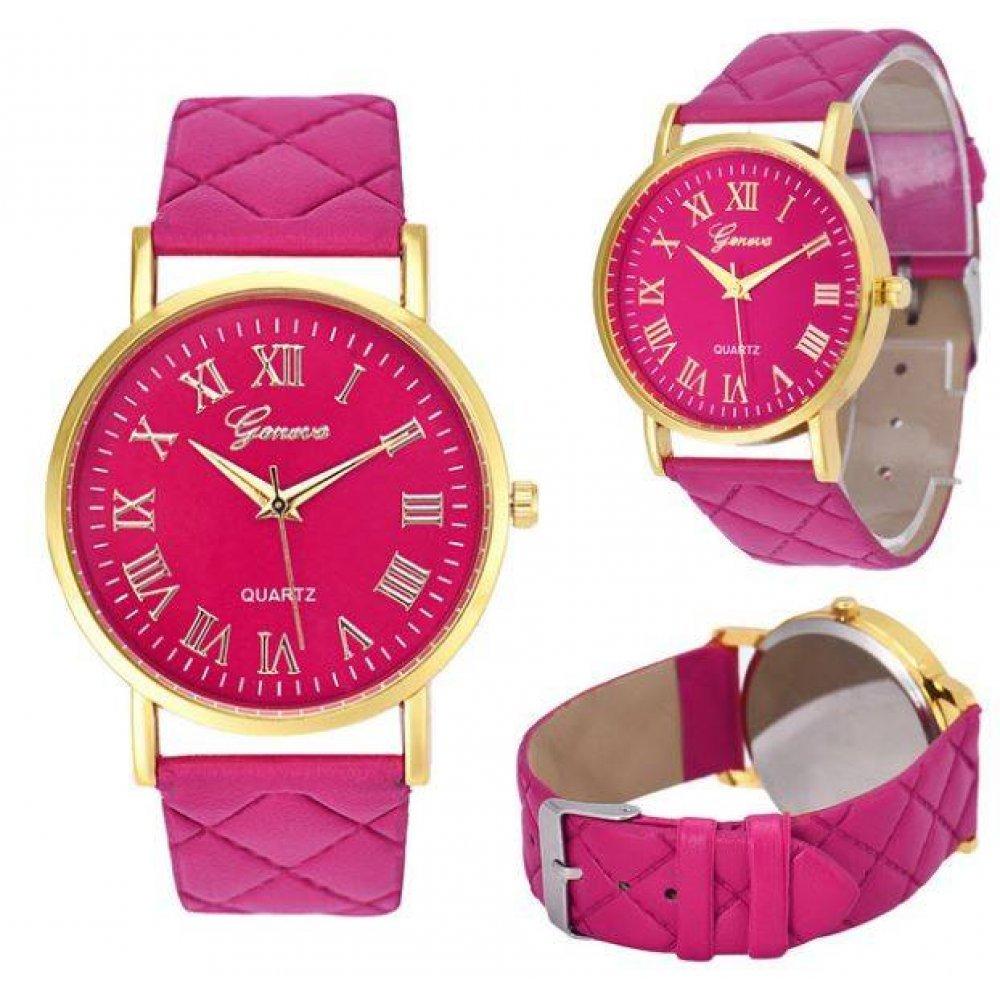 Женские Часы наручные Genvivia, розовые  4569