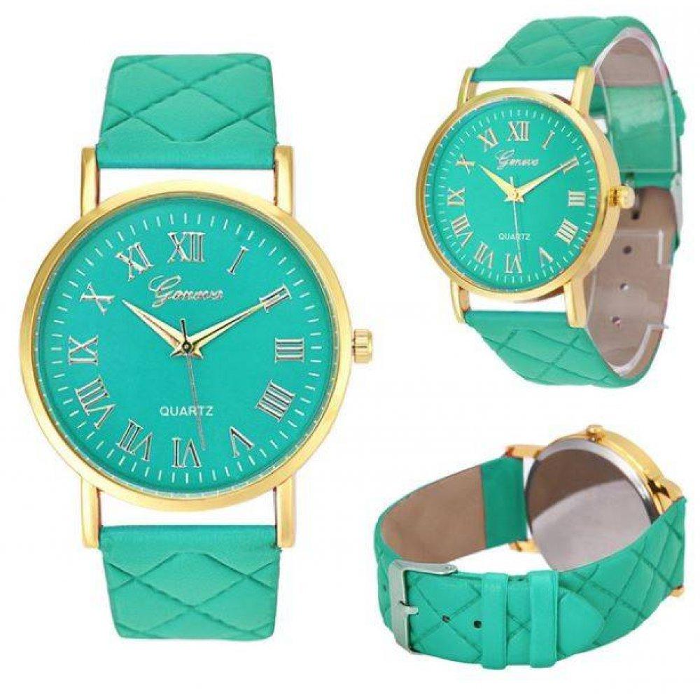 Женские Часы наручные Genvivia, зеленые 4570