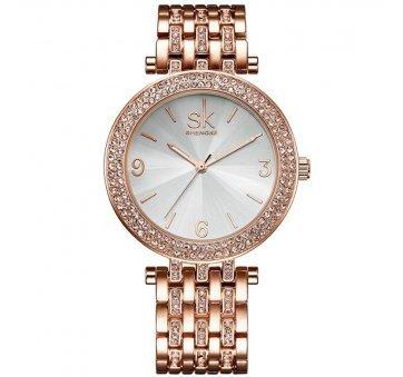 Женские Часы наручные SK, в камнях золотистые  4574
