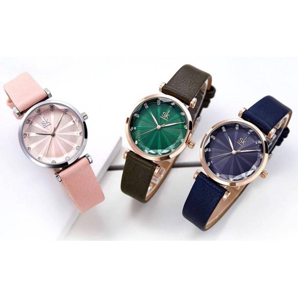 Женские Часы наручные SK, синие  4580