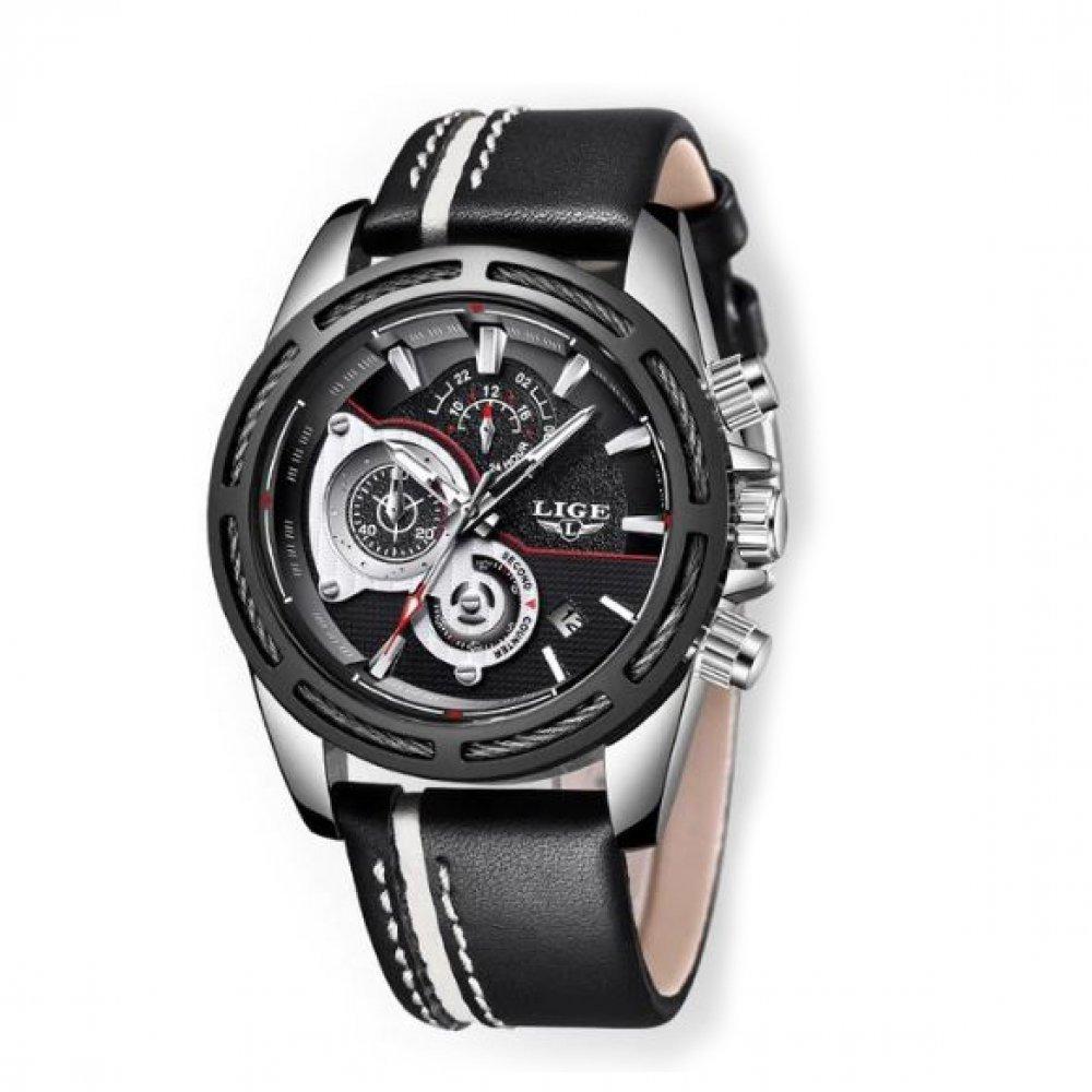 Мужские Часы наручные LIGE, черные 4583