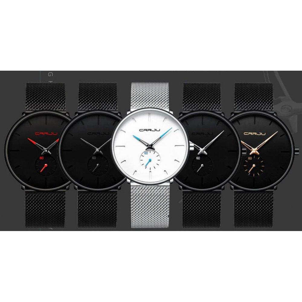 Мужские Часы наручные CRRJU, черные 4591
