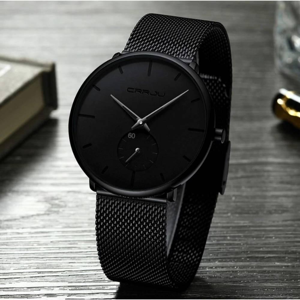 Мужские Часы наручные CRRJU, черные 4592