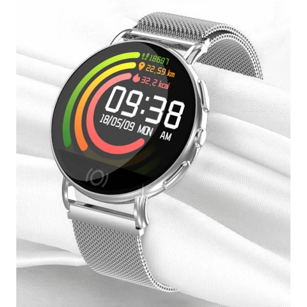 Смарт-Cмарт часы HATOSTEPED, серебристые  4595