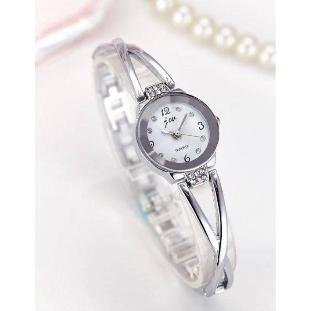 Женские Часы наручные JW, серебристые  4615