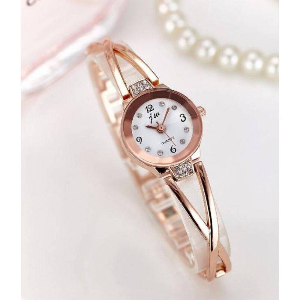 Женские Часы наручные JW, золотистые  4617