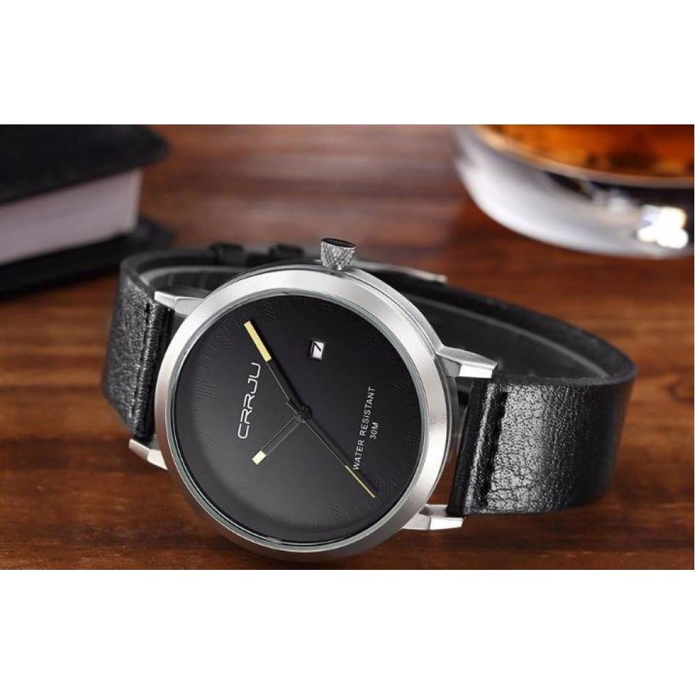 Мужские Часы наручные CRRJU,черные  4623