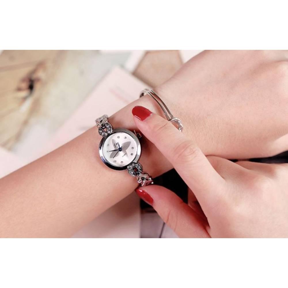 Женские Часы наручные JW, серебристые  4629