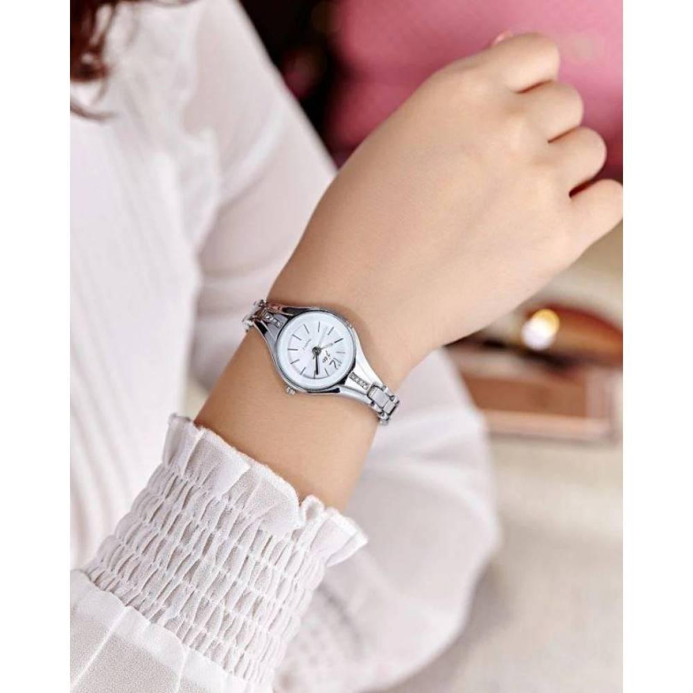 Женские Часы наручные JW, серебристые  4632